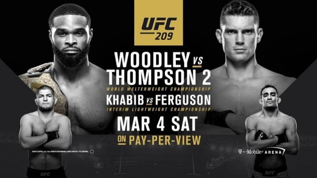 Watch UFC 209: Woodley vs Thompson 2 3/4/2017 PPV Full Show Online Free