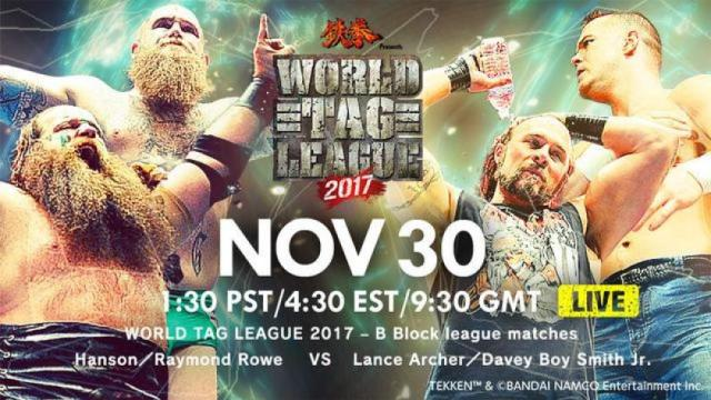 Watch NJPW World Tag League 2017 Day 10 11/30/2017 Full Show Online Free