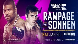 Watch Bellator 192: Rampage vs. Sonnen 1/20/2018 Full Show Online Free
