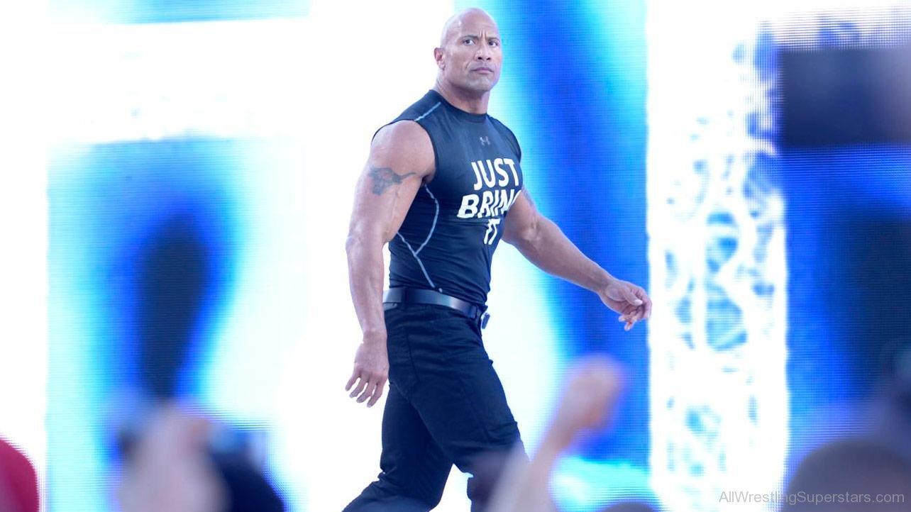 WWE The Rock Entrance