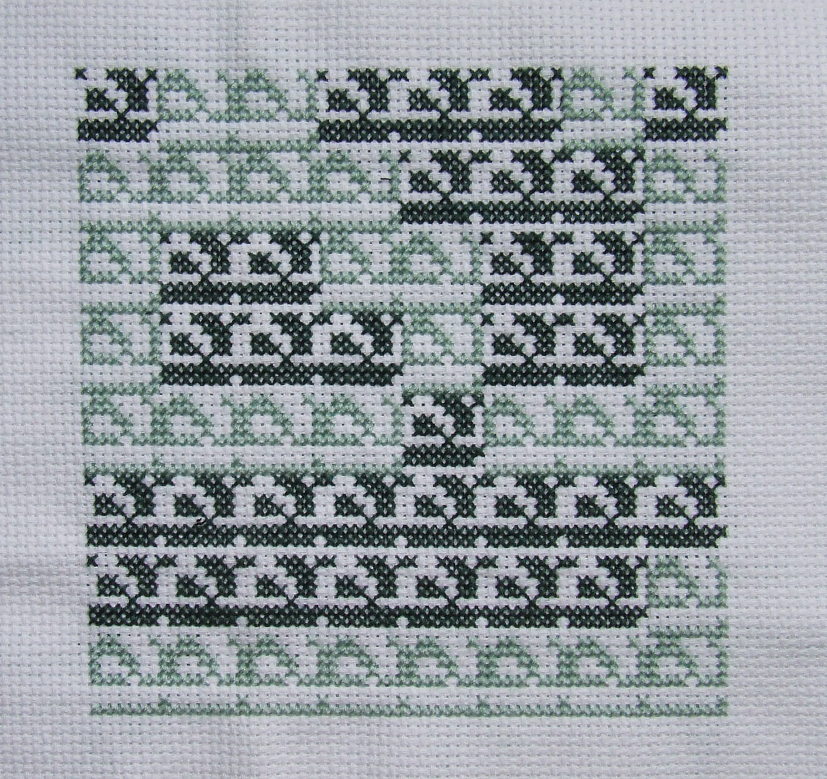 Binary Cross Stitch, Fractal Inspired