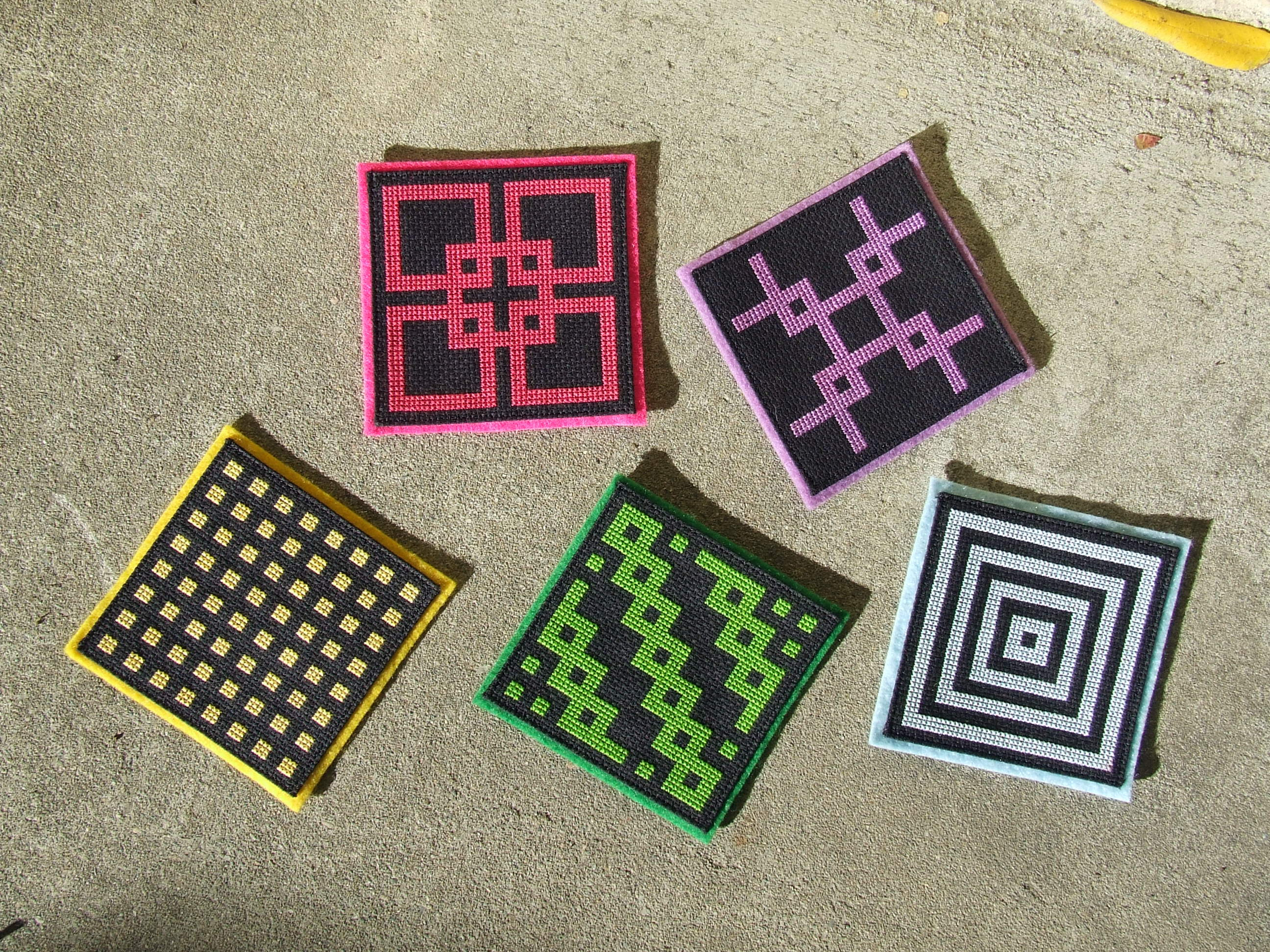 Cross Stitch Coasters – Finished!