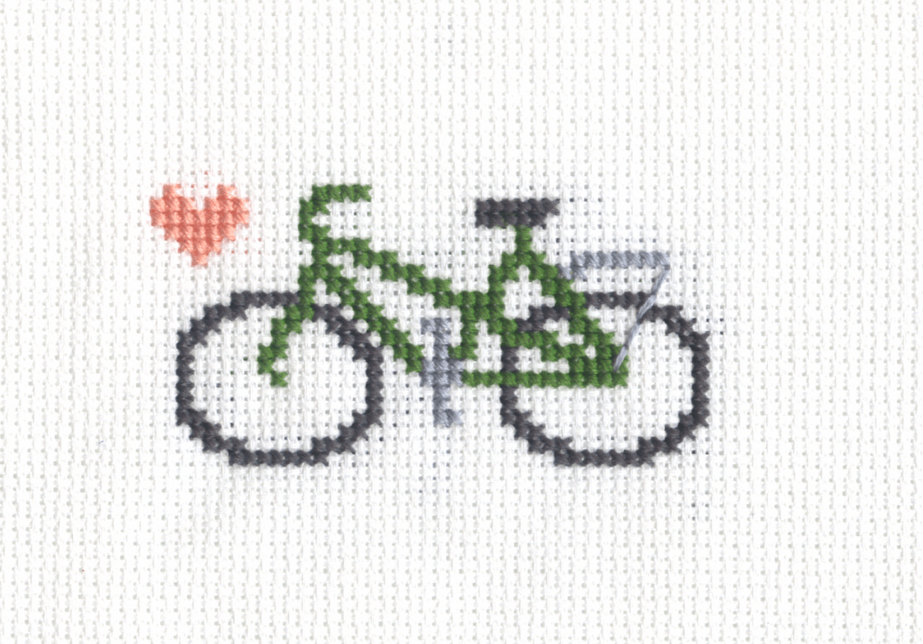 Peugeot Mixte Cross Stitch