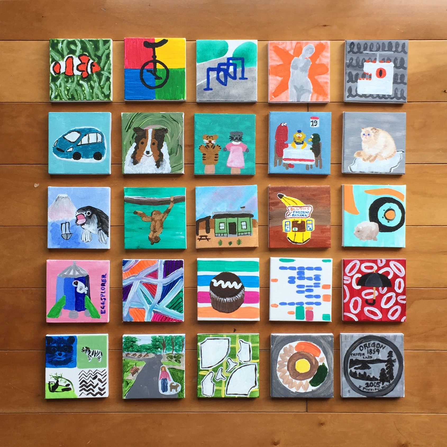 The 100 Day Project 2017: Painting Tiny Canvases (Days 1-25)