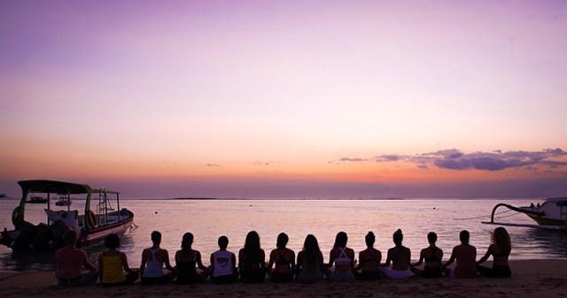 sunset meditation yoga teacher training