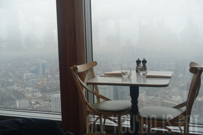 Table with a view Duck and Waffle