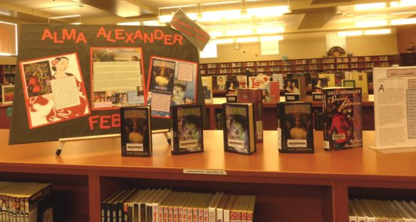Library display in Pasco