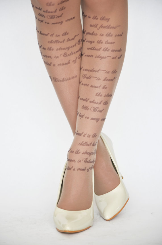 Emily Dickinson tights