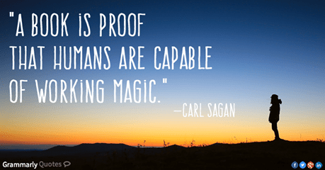 QUOTE book magic, Sagan