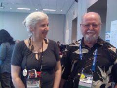 Larry Niven and Alma Alexander at Sasquan 2015