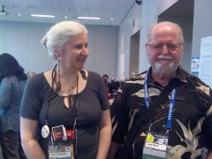 Larry Niven and Alma Alexander at Sasquan 2015