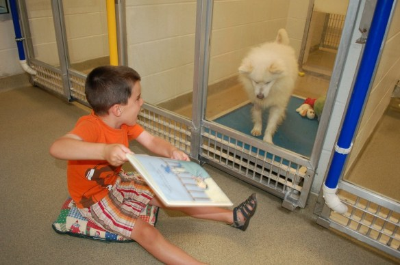 Kids read to Dogs photo