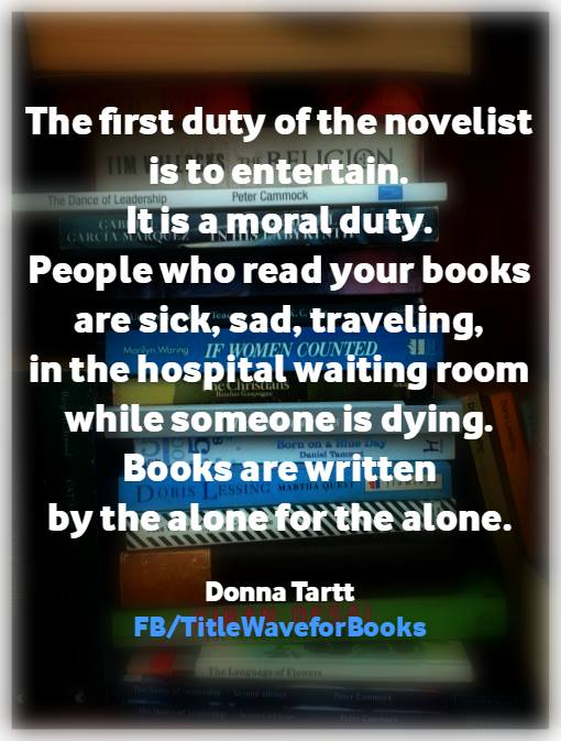 Donna Tartt Quote poster