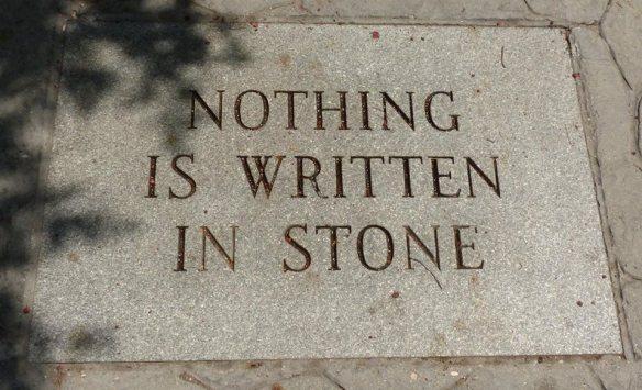 'Nuf said photo of stone engraving