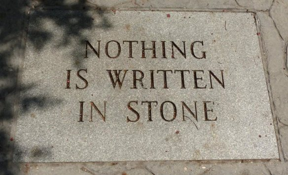 'Nuf said photo of stone engraving