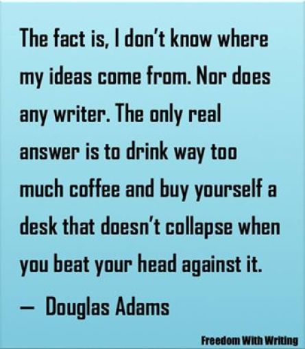 Douglas Adams Ideas poster