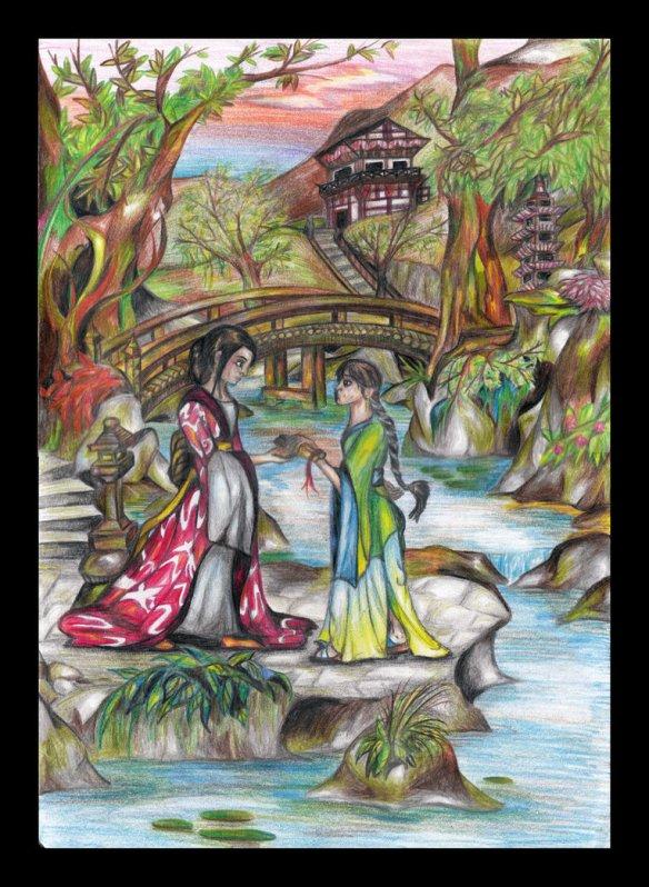 The Secrets of Jin-shei fan art painting