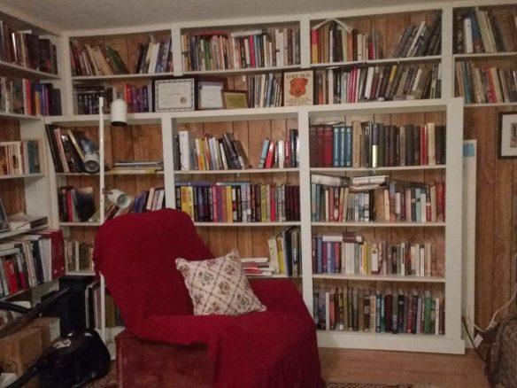 Alma's home library photo