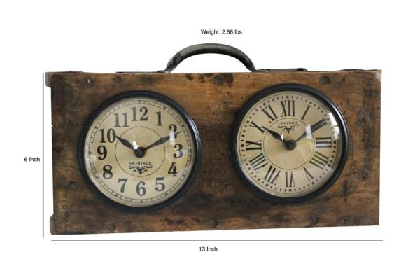 Upcycled Brick Mold Dual Dial Clock