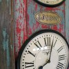 Upcycled Old Door World Time Clock (Vertical)