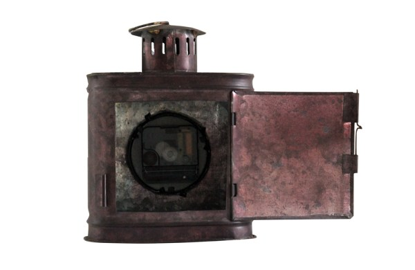 Upcycled Iron Container Clock