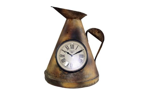 Upcycled Iron Measuring Jug Clock (Brown)
