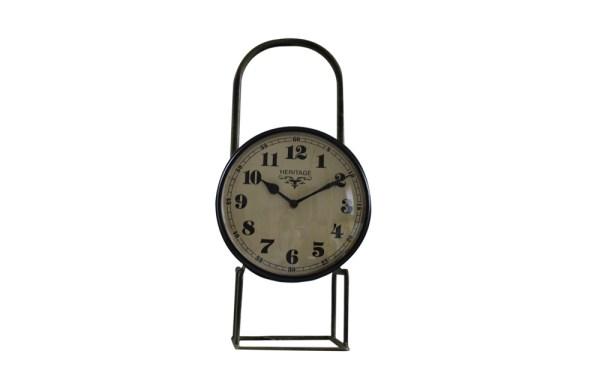 Upcycled Iron Lamp Style Clock (Light Green Camo)