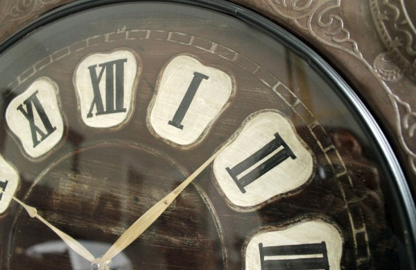 Upcycled Iron Zodiac Sign Clock (Hand Dial)