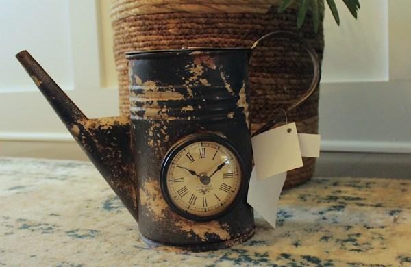 Upcycled Iron Jug Clock (Camo White)