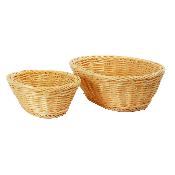 Buy Wicker Basket Plastic Oval Beige SH11NA Series