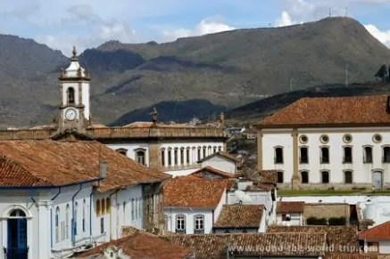 Telhados típicos em Ouro Preto