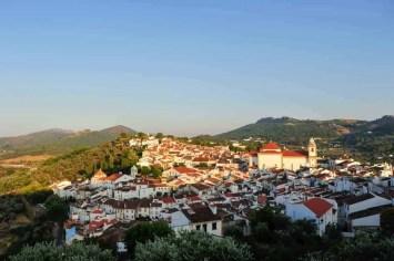 A cidade vista do topo do castelo