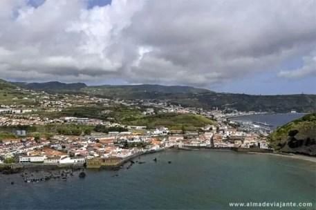 Vista da cidade da Horta