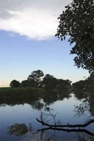 Vista do Delta interior do Okavango