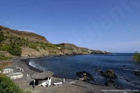 Vista da Cidade Velha a partir do restaurante Baía de Coral, Santiago, Cabo Verde