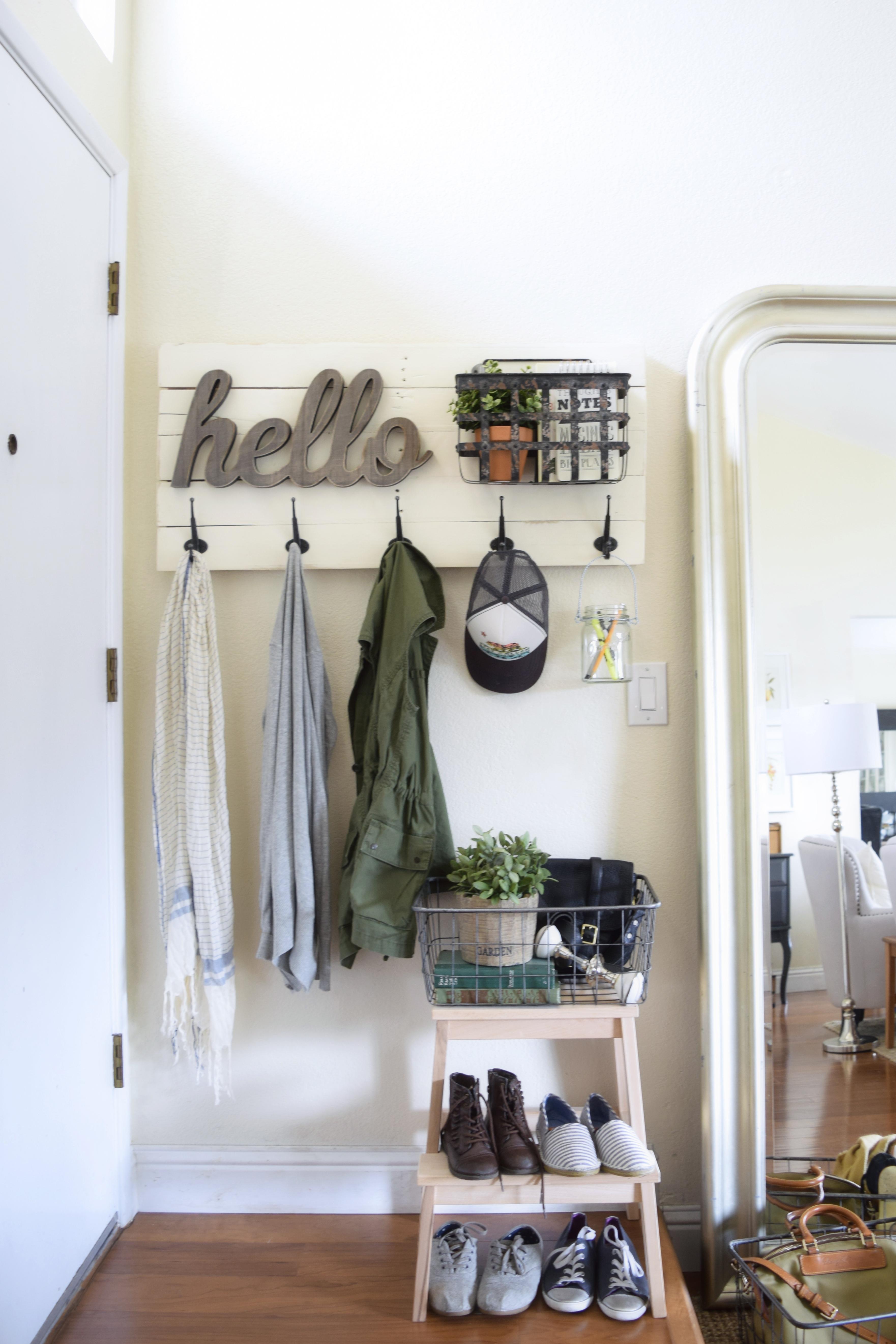 Diy Fun Personalized Wall Mounted Coat Hanger Almafied Com
