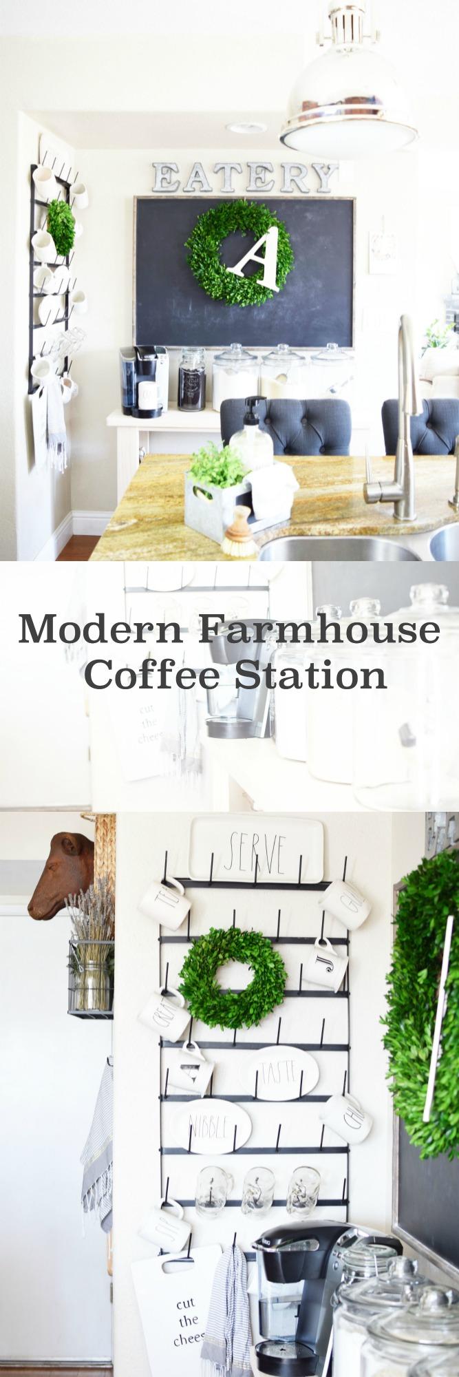 coffee station pin board
