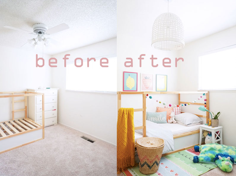 Back to school bedroom makeover: A big girl bedroom reveal ...