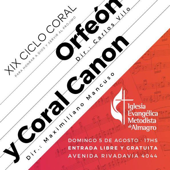XIX Ciclo Coral – Orfeon y Coral Canon
