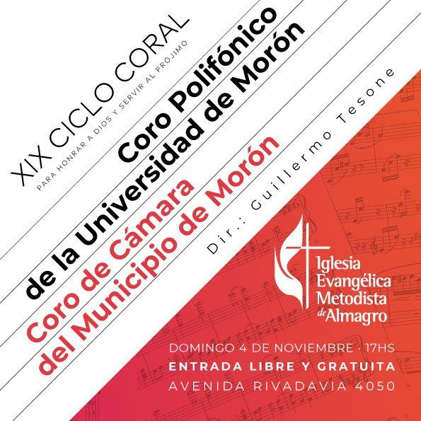 XIX Ciclo Coral – Coro Polifónico de la Universidad de Morón y Coro de Cámara del Municipio de Morón
