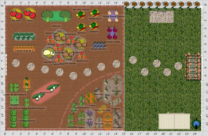 Backyard Vegetable Garden Layout | The Old Farmer's Almanac on Backyard Layout Planner id=14379