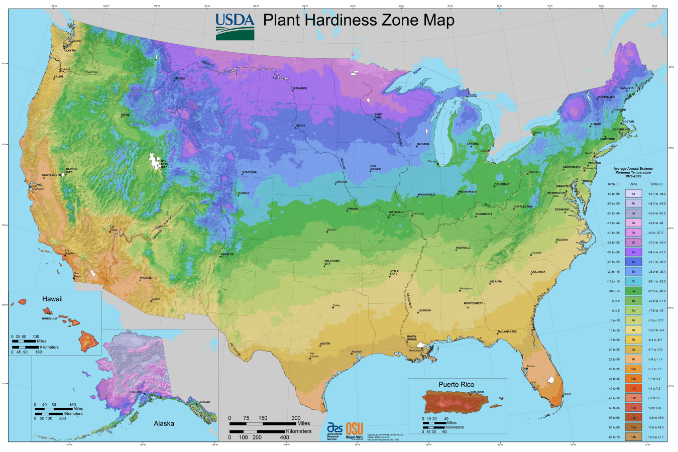 Usda Planting Zones For The U S And Canada