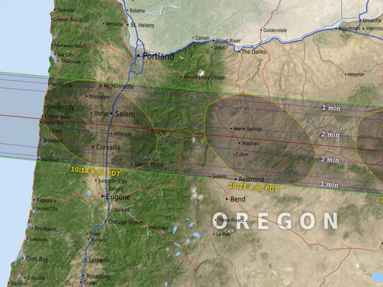 HD Decor Images » Total Solar Eclipse 2017 Weather   Old Farmer s Almanac Oregon Eclipse Map by NASA