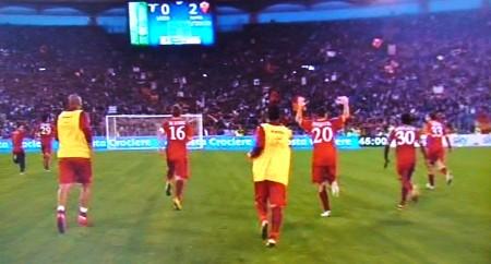 Lazio-Roma 0-2 Iniziano i festeggiamenti