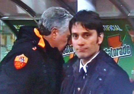 Montella alla sua prima panchina da allenatore con la Roma