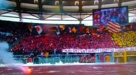 La curva sud di Roma-Inter 4-0