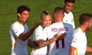 Primi abbracci giallorossi per Kolarov