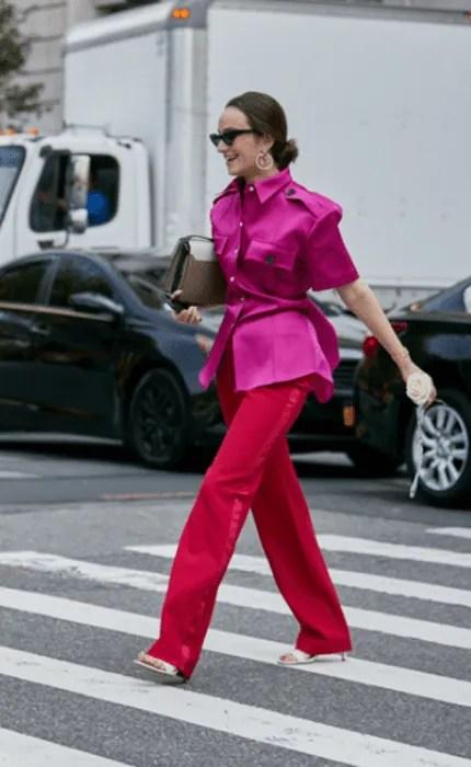 Vermelho e rosa: como usar.