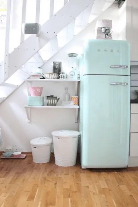 Verde menta na cozinha.