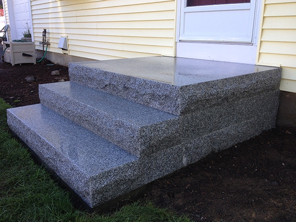 Outdoor Stairs And Stone Steps For Front Back Yard Landscaping | Stone Treads For Outdoor Steps | Marble | Granite | Non Slip | Flagstone | Bluestone Treads